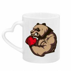 Кружка с ручкой в виде сердца Panda Boxing