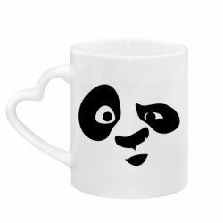 Кружка з ручкою у вигляді серця Panda Po