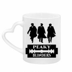 Кружка з ручкою у вигляді серця Peaky Blinders