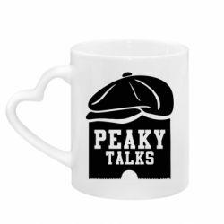 Кружка з ручкою у вигляді серця Peaky talks