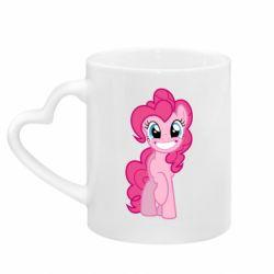 Кружка с ручкой в виде сердца Pinkie Pie smile