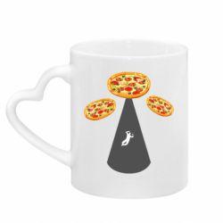 Кружка з ручкою у вигляді серця Pizza UFO