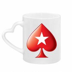 Кружка з ручкою у вигляді серця Poker Stars 3D Logo