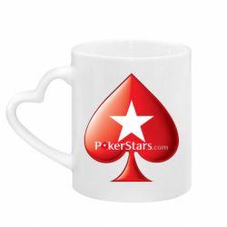 Кружка з ручкою у вигляді серця Poker Stars Game