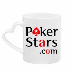 Кружка с ручкой в виде сердца Poker Stars