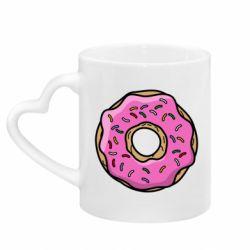 Кружка с ручкой в виде сердца Пончик Гомера