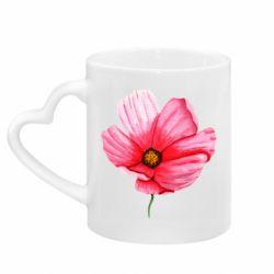 Кружка с ручкой в виде сердца Poppy flower