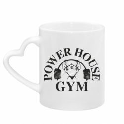 Кружка с ручкой в виде сердца Power House Gym