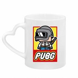 Кружка с ручкой в виде сердца PUBG LEGO