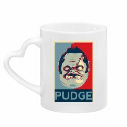 Кружка с ручкой в виде сердца Pudge aka Obey