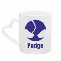 Кружка з ручкою у вигляді серця Pudge
