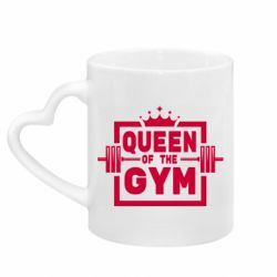 Кружка з ручкою у вигляді серця Queen Of The Gym