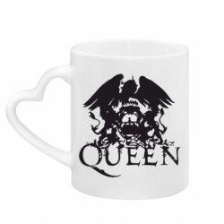 Кружка з ручкою у вигляді серця Queen