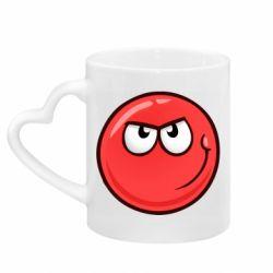 Кружка з ручкою у вигляді серця Red Ball game