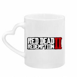 Кружка з ручкою у вигляді серця Red Dead Redemption logo