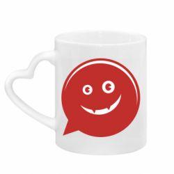 Кружка с ручкой в виде сердца Red smile