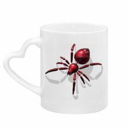 Кружка з ручкою у вигляді серця Red spider