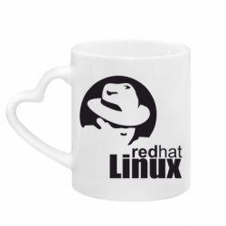 Кружка з ручкою у вигляді серця Redhat Linux