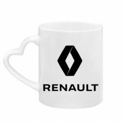 Кружка з ручкою у вигляді серця Renault logotip