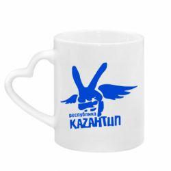 Кружка с ручкой в виде сердца Республика Казантип
