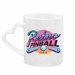 Кружка с ручкой в виде сердца Retro pinball