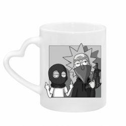 Кружка с ручкой в виде сердца Rick and Morty Bandits