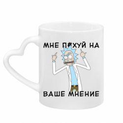 Кружка з ручкою у вигляді серця Rick and Morty Русская версия 2