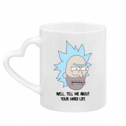Кружка с ручкой в виде сердца Rick live