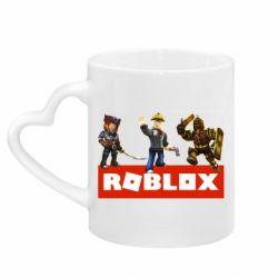 Кружка с ручкой в виде сердца Roblox Heroes