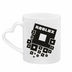 Кружка с ручкой в виде сердца Roblox logos
