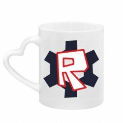 Кружка з ручкою у вигляді серця Roblox mini logo