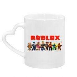 Кружка з ручкою у вигляді серця Roblox team