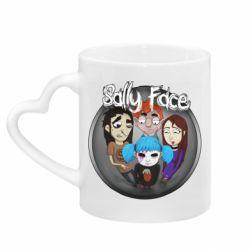 Кружка с ручкой в виде сердца Sally face soundtrack