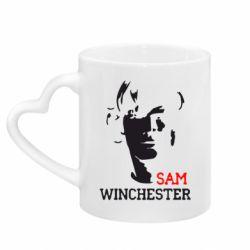 Кружка з ручкою у вигляді серця Sam Winchester