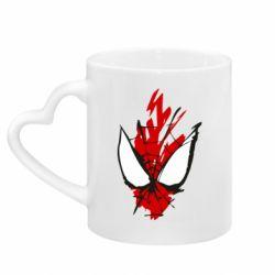 Кружка з ручкою у вигляді серця Сareless art Spiderman