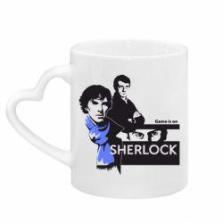 Кружка с ручкой в виде сердца Sherlock (Шерлок Холмс)