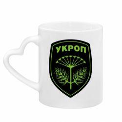 Кружка с ручкой в виде сердца Шеврон Укропа