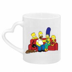 Кружка с ручкой в виде сердца Simpsons At Home