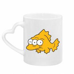 Кружка с ручкой в виде сердца Simpsons three eyed fish