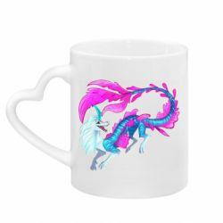 Кружка з ручкою у вигляді серця Sisu Water Dragon