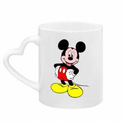 Кружка з ручкою у вигляді серця Сool Mickey Mouse