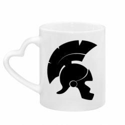 Кружка с ручкой в виде сердца Spartan helmet