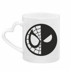 Кружка с ручкой в виде сердца Spider Man and Deadpool