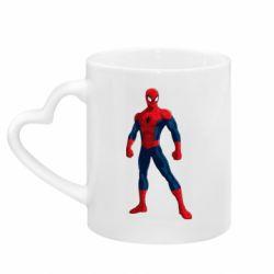 Кружка з ручкою у вигляді серця Spiderman in costume