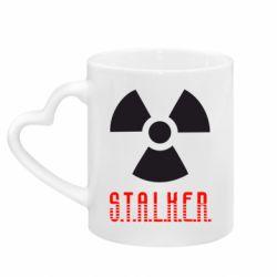 Кружка с ручкой в виде сердца Stalker