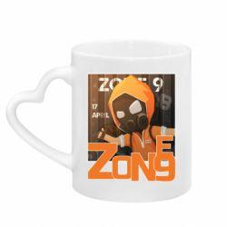 Кружка з ручкою у вигляді серця Standoff Zone 9