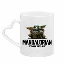 Кружка с ручкой в виде сердца Star Wars Yoda beby