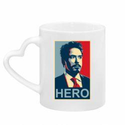 Кружка з ручкою у вигляді серця Stark Hero