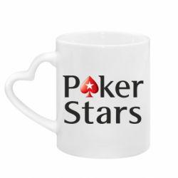 Кружка з ручкою у вигляді серця Stars of Poker