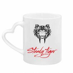 Кружка з ручкою у вигляді серця Steady tiger